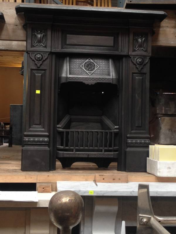 Arts and craft combination fireplace. Cast iron 1461250009588