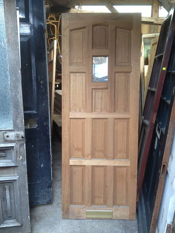 Single glazed cottage style door with brass letter box. 14546692154578