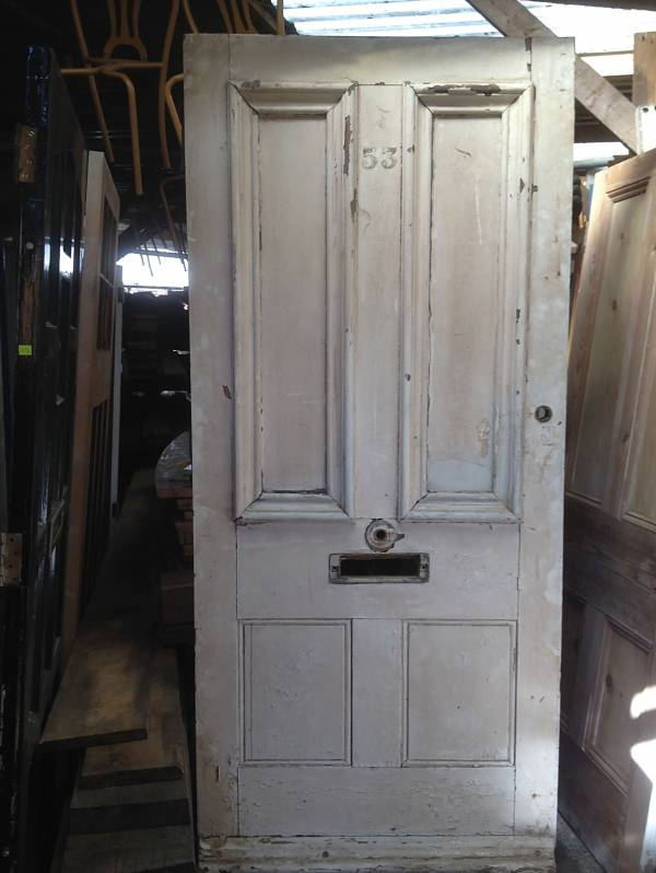White four panel door with fielded panels. 14546692166909