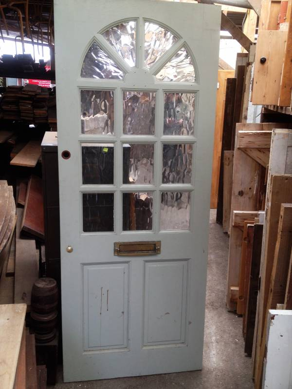 Salvaged half glazed front door