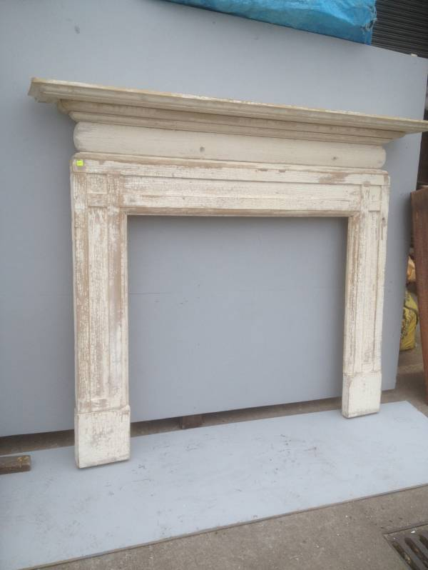 Timber surround, stripped and sanded, back to white wash
