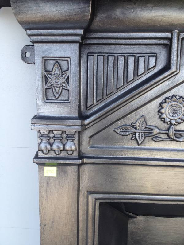 Reproduction Arts and Crafts combination fire place mantle design