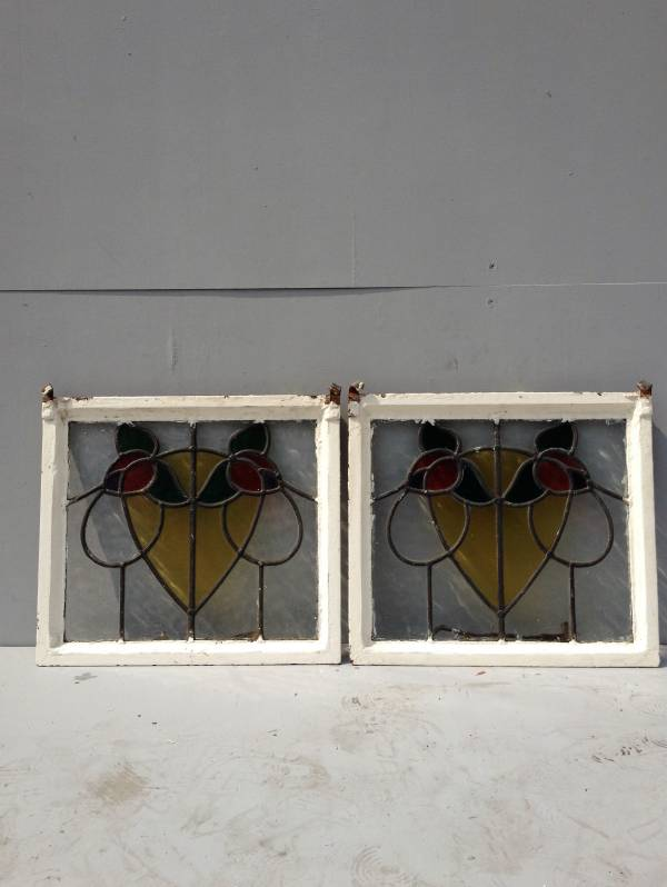 Cast iron stained glass windows